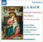 Cover Sacred Cantatas for Bass (Nos. 56, 82 and 158)
