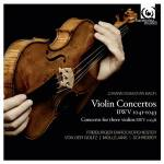 Cover Violin Concertos BWV 1041-1043 & Concerto for Three Violins BWV 1064R